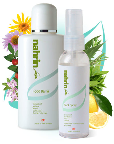 Nahrin Foot Balm and spray set