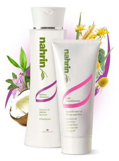 Nahrin Mallow Shampoo and Conditioner set